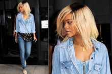 Rihanna, is that a hat on your head or just a case of bad roots?