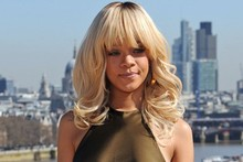 Rihanna basks in the London sun for Battleship photo call