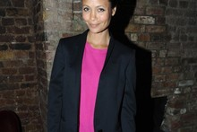 Thandie Newton does Spring chic in shorts and sandals