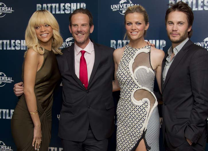 The battleship cast in London