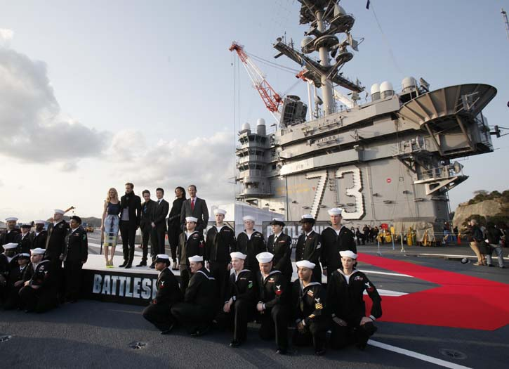 The cast of Battleship in Tokyo.