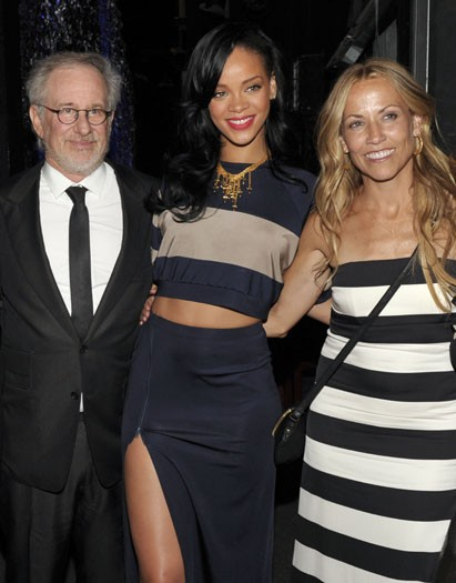 Rihanna performs for Steven Spielberg at EIF charity gig