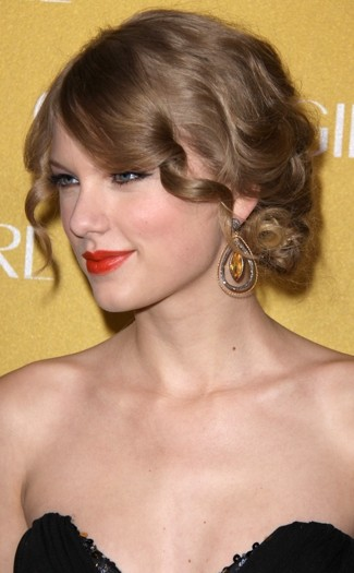 Taylor Swift is the queen of the updo and looked supercute with this
