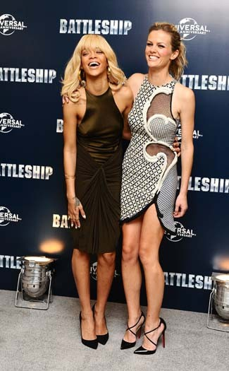 Brooklyn Decker & Rihanna in London