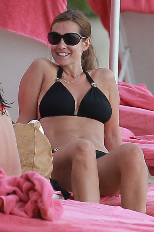 Louise Redknapp and her bikini head to Barbados