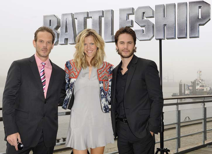 Peter Berg, Brooklyn Decker & Taylor Kitsch in Hamburg