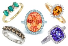 Gorgeous coloured stone engagement rings (Pinterest porn of the highest order...)
