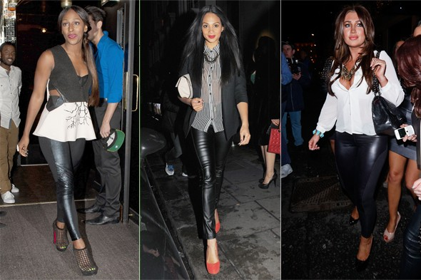 Alesha Dixon is super chic in blazer, shirt and leather for dinner date