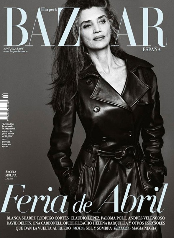 Meet Harper's Bazaar Espana's 56-year-old cover girl