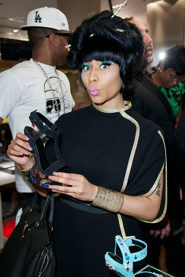 At Giuseppe Zanotti Boutique during Fashion's Night Out, 2011