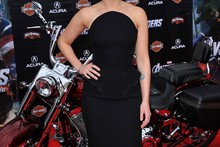 Little Black Widow: Scarlett Johansson in Versace for Avengers premiere