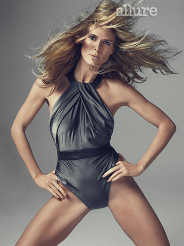 Heidi Klum gets naked for Allure's May cover