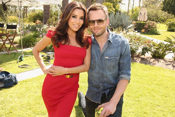 Pic of the day! Eva Longoria is DWARFED by Joel McHale at NBC event