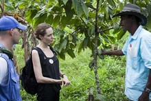 Angelina Jolie dresses down (obviously) for Special Envoy visit to Ecuador