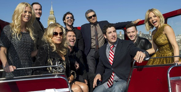 American Pie: Reunion cast during their London photo call on an open-top bus