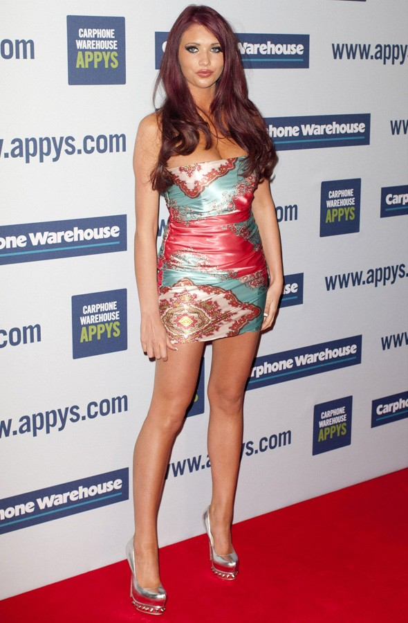 Amy Childs at the Carphone Warehouse Appy Awards