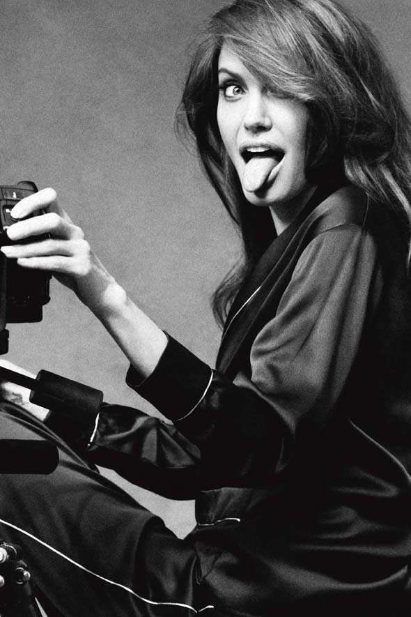 Jolie gets jolly: Angelina for Marie Claire
