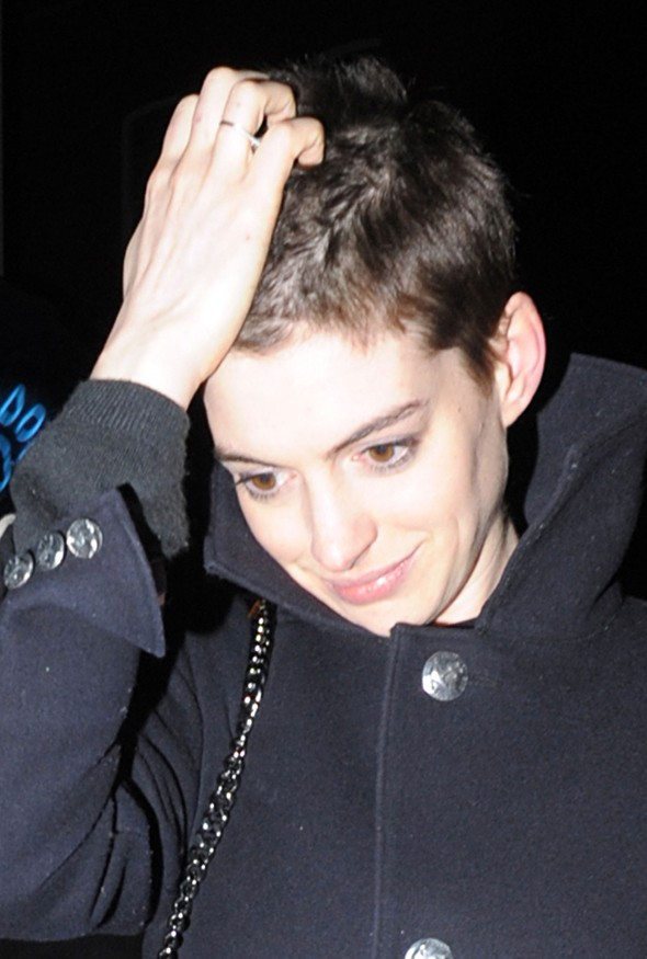 Hot or not: Anne Hathaway debuts new shorn haircut