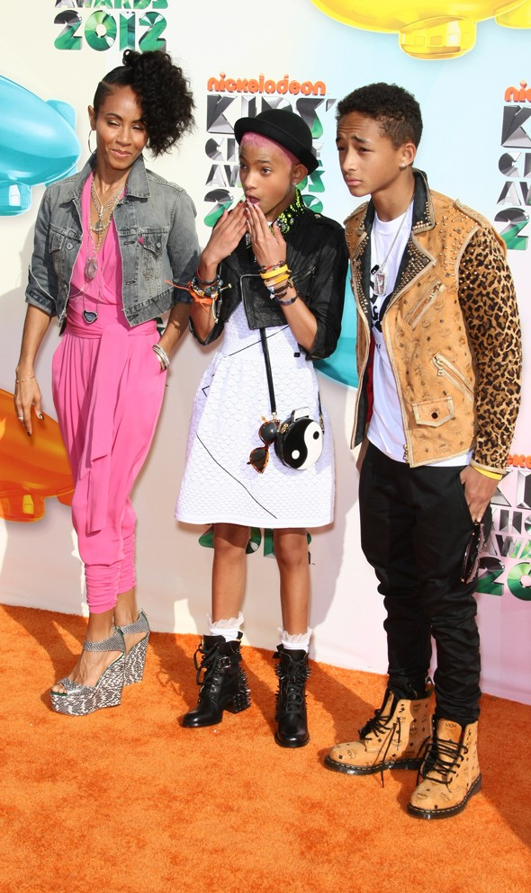 Jada Pinkett Smith with children Willow and Jaden