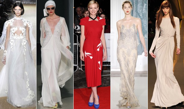 Carey Mulligan wedding dress possibilities