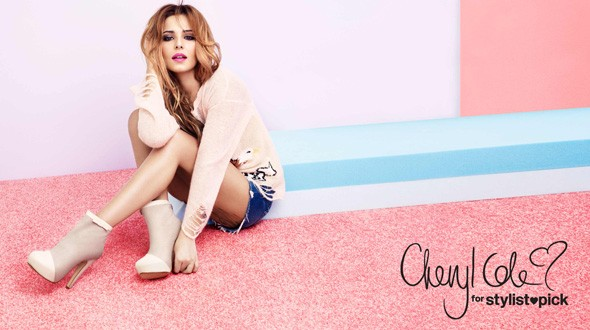 Cheryl modelling the Spring/Summer 2012 collection