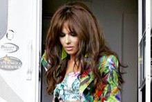 Cheryl Cole rocks leopard print knickers on set of new video