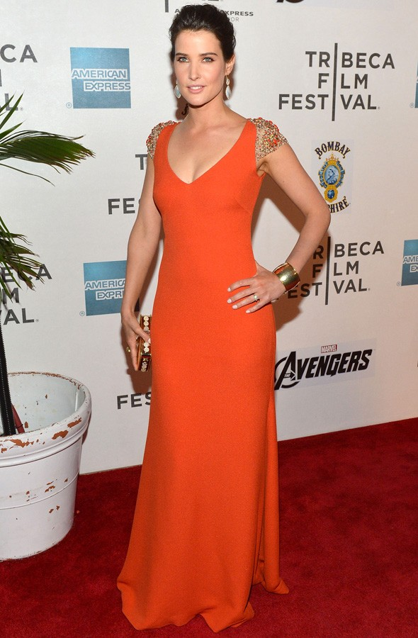 Cobie Smulders at The Avengers premiere during the Tribeca Film Festival