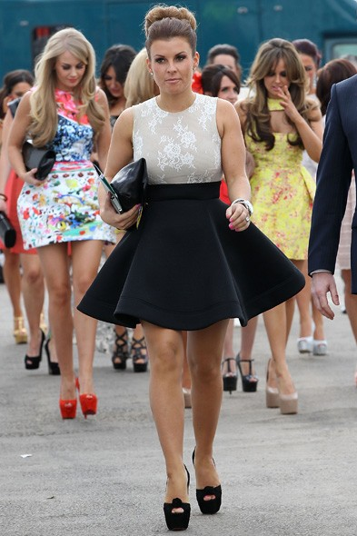 Coleen Rooney at Aintree, day two