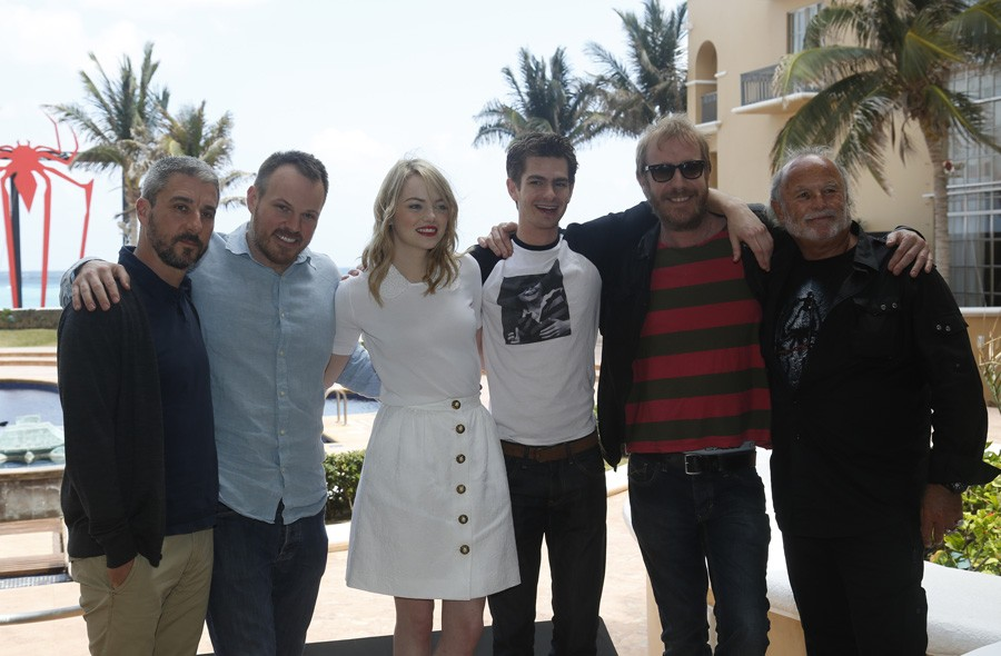 The Amazing Spiderman cast and crew in Mexico
