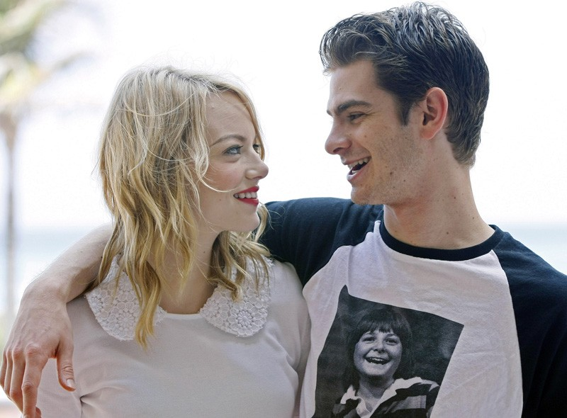 Emma Stone and Andrew Garfield in Mexico