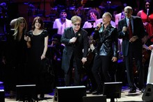Elton John raps, Meryl Streep sings and Jennifer Hudson is stunning at Rainforest Fund concert