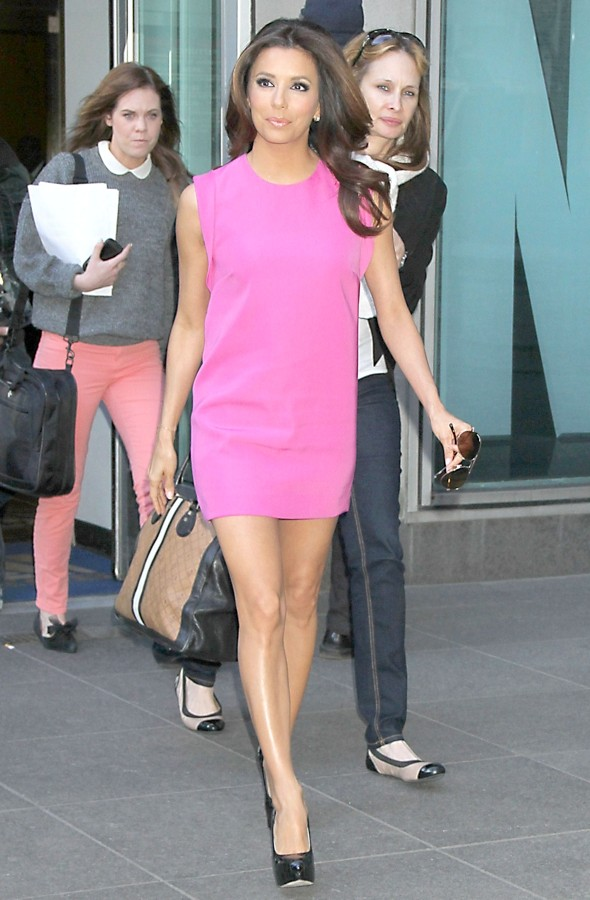 Back to the fuchsia: Eva Longoria WOWS in hot pink minidress