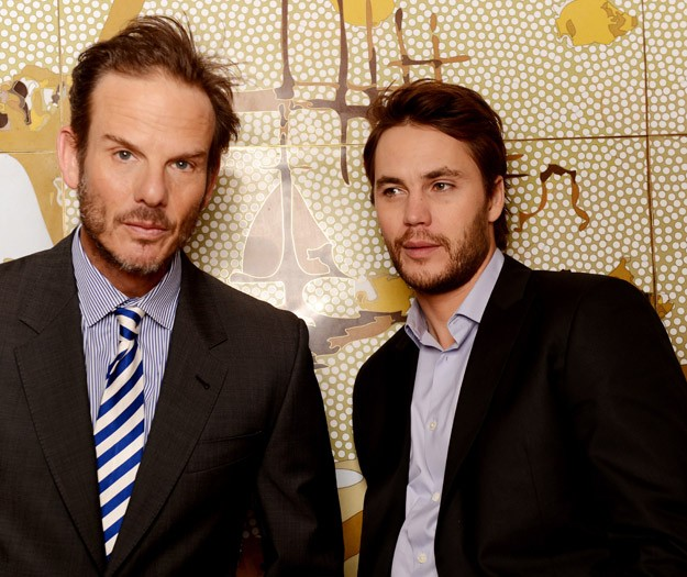 Peter Berg and Taylor Kitsch in Sydney