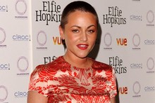 Jaime Winstone shows off shaved head at Elfie Hopkins premiere