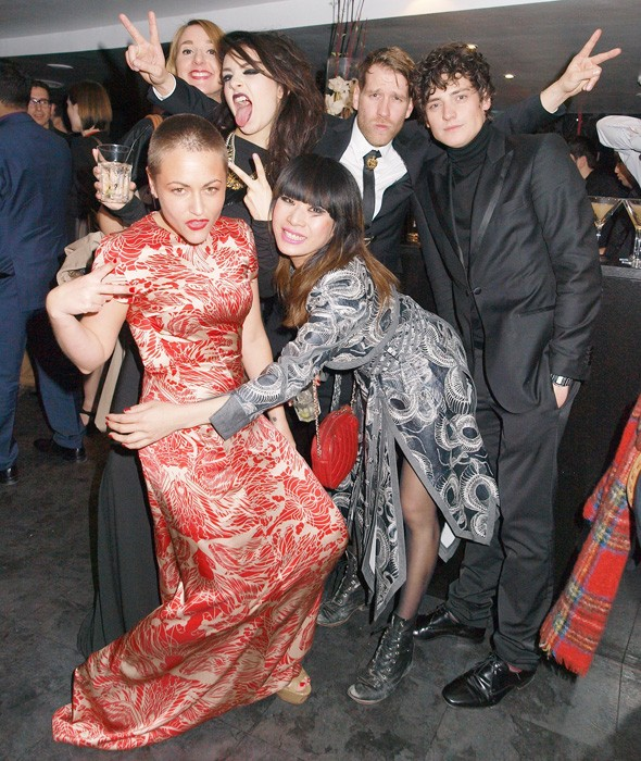Jaime Winstone and friends at the Elfie Hopkins after-party
