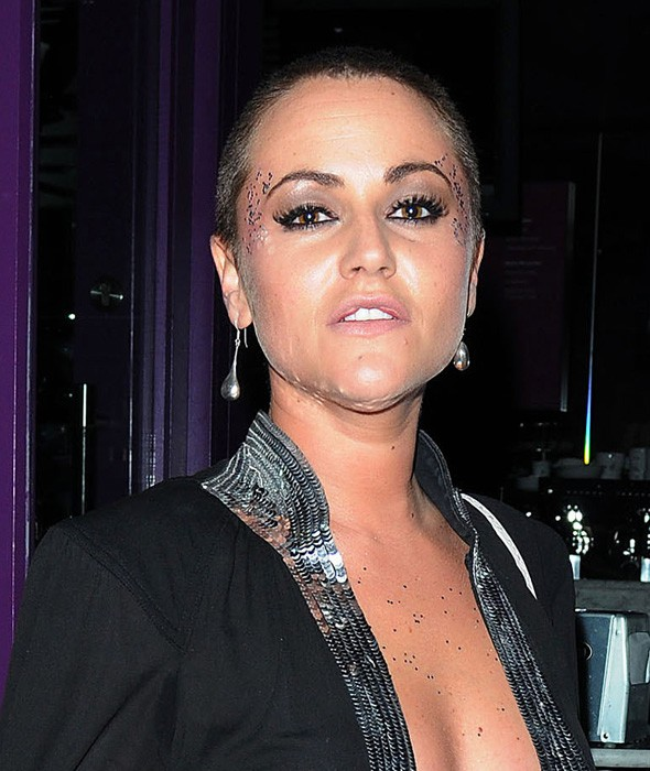 Jaime Winstone shaved head
