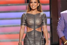 Jennifer Lopez wears silver bandage dress on American Idol, looks seriously amazing