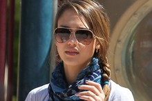 Jessica Alba shows off huge new upper arm tattoo