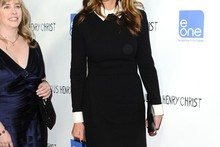 Monochrome chic: Julia Roberts makes her red carpet return