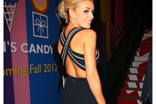LA Lady: Katherine Jenkins wows in backless jumpsuit at Dancing with the Stars party