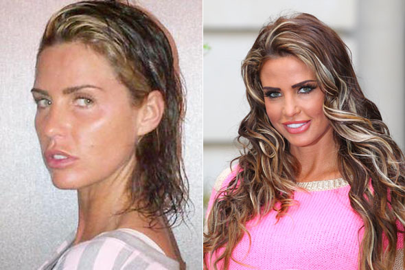 Katie Price ditches the makeup and extensions...