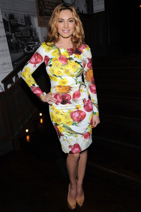 Kelly Brook's onion print dress: Masterpiece or disasterpiece?