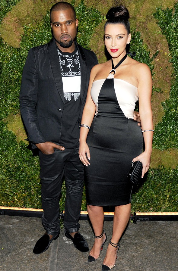 Kim Kardashian and Kanye West at the Chanel Tribeca Film Festival dinner