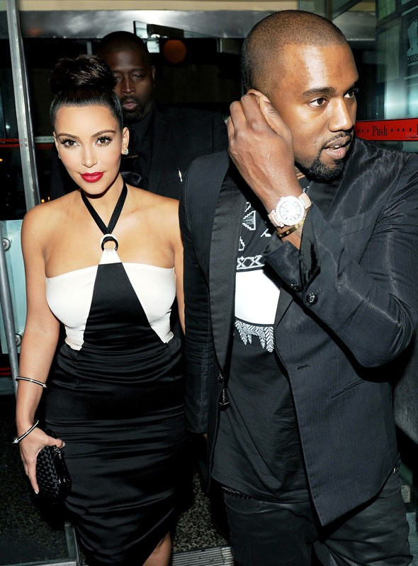Kanye West and Kim Kardashian at the Chanel Tribeca Film Festival dinner