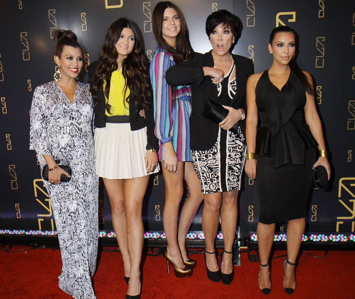 Kourtney, Kylie, Kendall, Kris and Kim