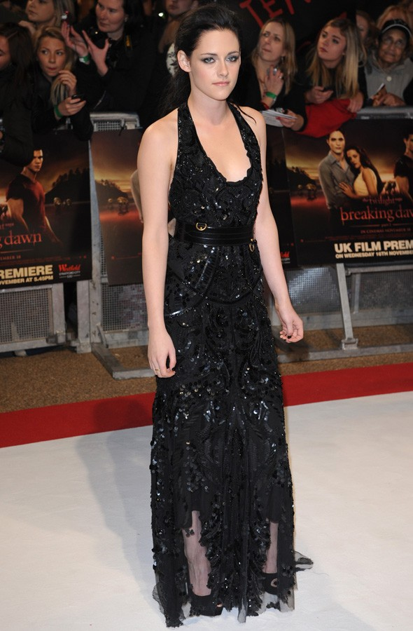 Kristen Stewart at the UK premiere of Twilight Breaking Dawn