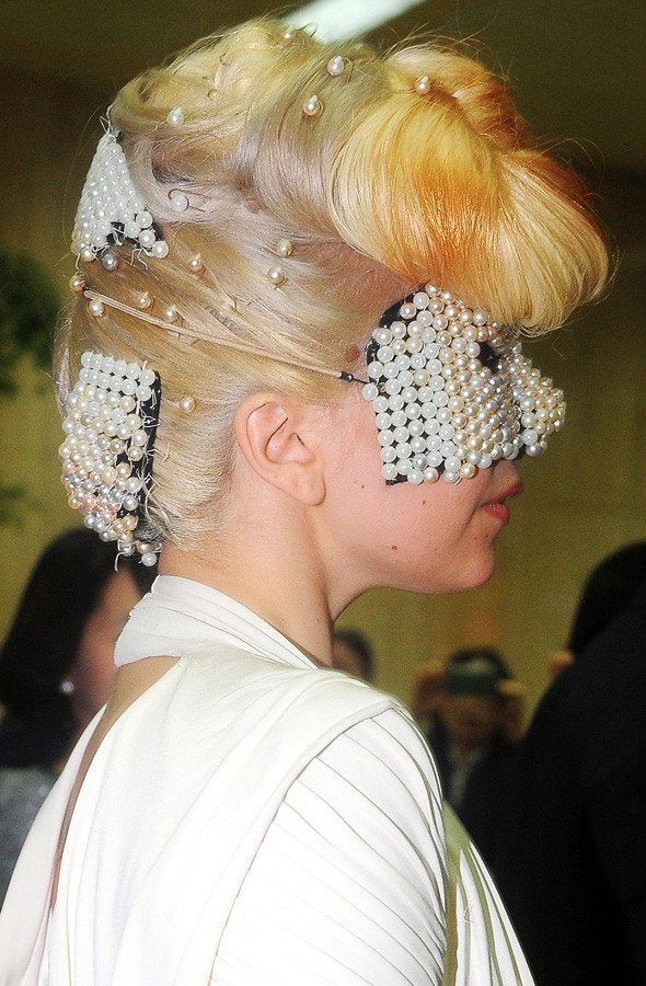Lady Gaga at Seoul airport, South Korea