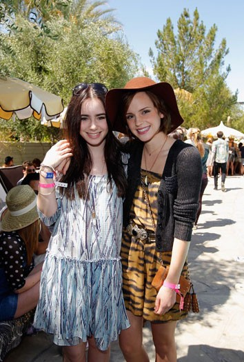 Emma Watson and Lily Collins