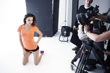 Behind-the-scenes on Miranda Kerr's Reebook photoshoot with Rankin