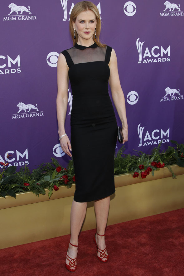Nicole Kidman aces it in L'Wren Scott on the ACM red carpet